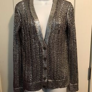 Sparkly button down sweater